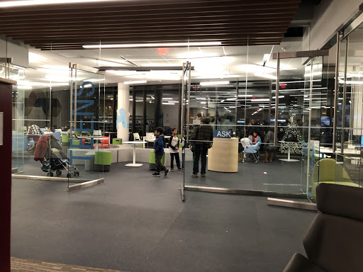 Library+employees+eagerly+show+off+the+new+makerspace+in+the+Brambleton+library.+With+a+3D+printer+and+other+new+technology%2C+this+corner+of+the+library+is+expected+to+be+a+hit.