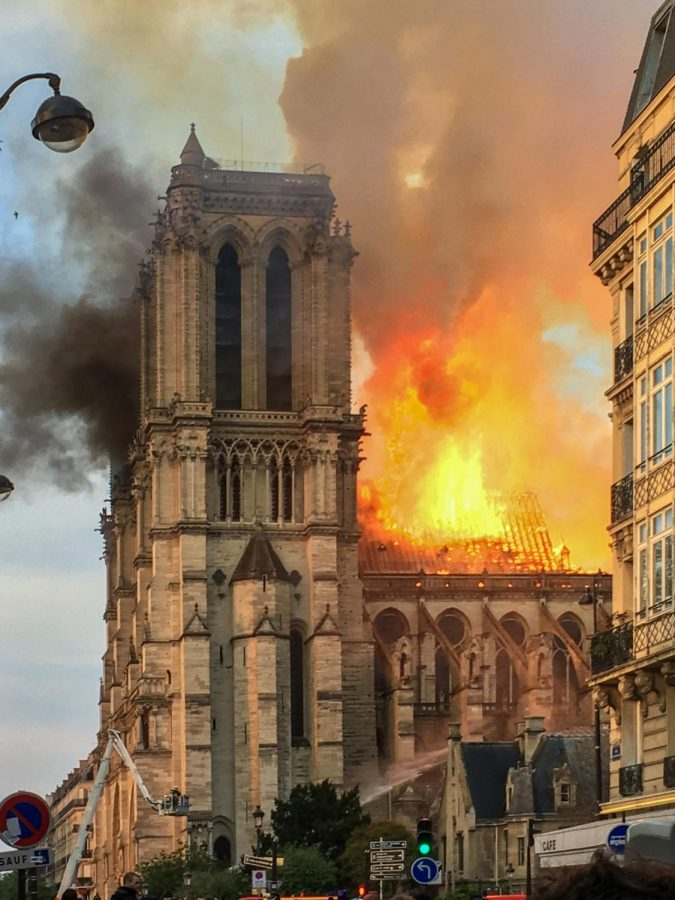 "The fire devastates centuries of history contained by Notre Dame. ""We built this cathedral more than 800 years ago, we've built it and, throughout the centuries, let it grow and improved it. So I solemnly say tonight: we will rebuild it together,"" said French President Emmanuel Macron to reporters in front of the blazing landmark. Between $835 million and more than $1 billion in donations have been pledged to rebuild, as of the time of publication."
