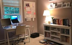 "Theater teacher Rebekah Hess has spent quarantine and summer break preparing her home office for the school year. ""I ended up decluttering over 2,320 items in the last three months,"" Hess said. Her office contains scented candles, an open window, a ginormous planner, and a special furry friend, Gibbs."